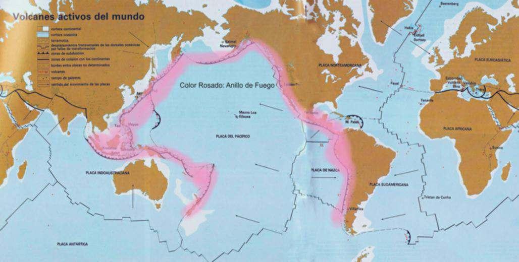 anillo de fueo zona de maxima actividad volcanica
