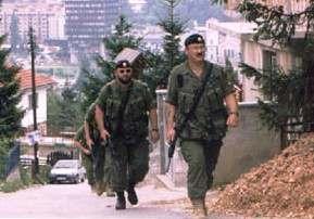 soldados en la República Serbia de Bosnia