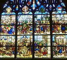 vitrou de una iglesia medieval