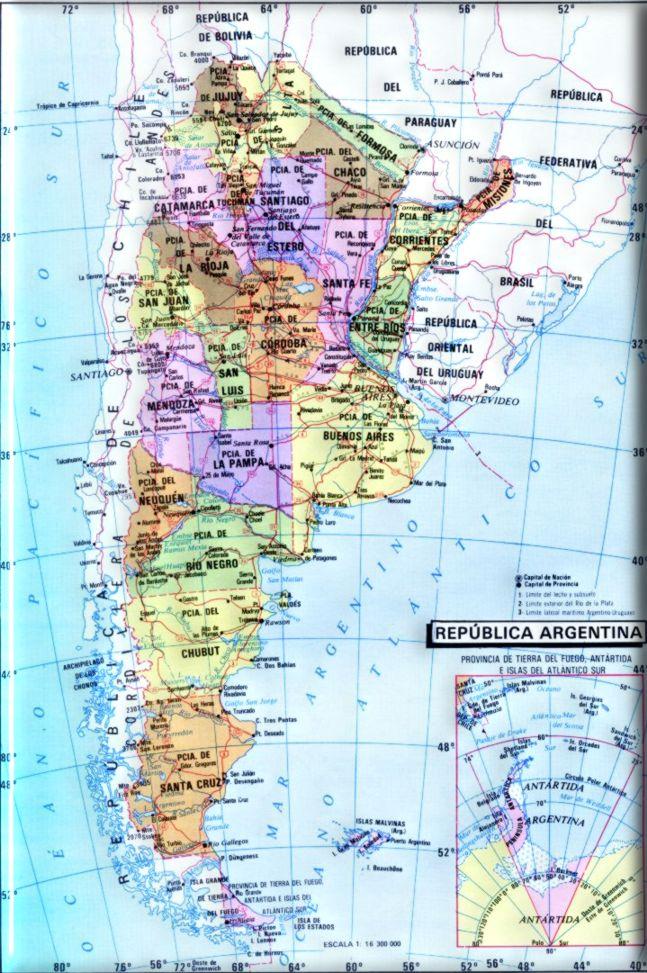 mapa politico de la republica argentina