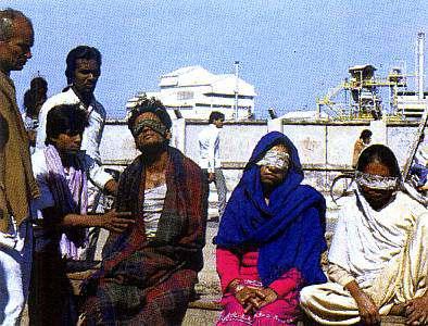 Nube venenosa en Bhopa