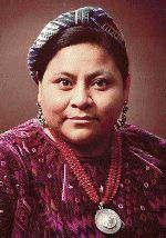 indígena Rigoberta Menchú  Premio Nobel de la Paz