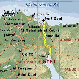 mapa ubicacion del canal de suez