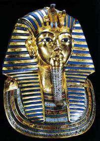 Mascara mortuoria de oro macizo de Tutankamon