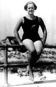 nadadora antigua Ederle
