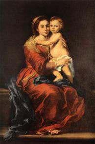 La Virgen del Rosario y Muchachos comiendo uvas de Bartolomé Esteban Murillo