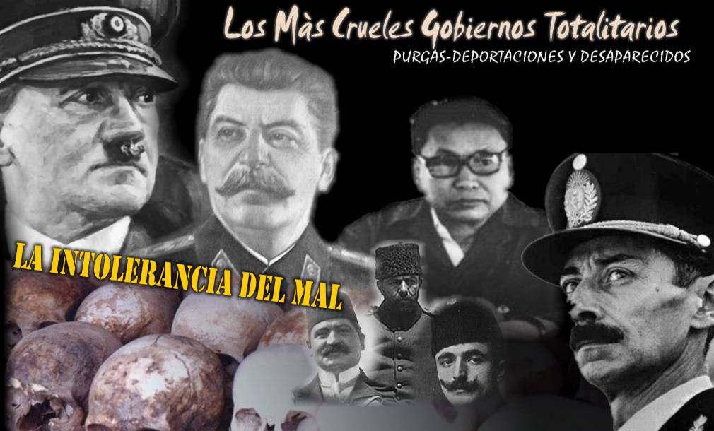 Características de Gobiernos Totalitarios Hitler-Stalin-Videla