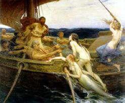 Ulises atado al palo mayor de su barco