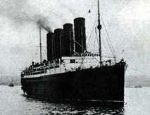 El hundimiento del trasatlántico de pasajeros Lusitania