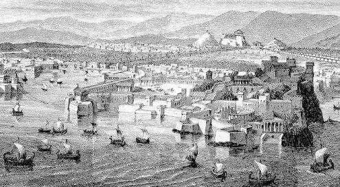 Puerto de Pireo en Atenas
