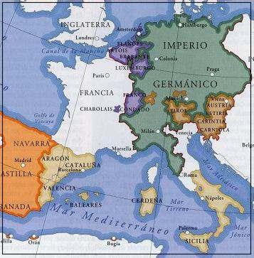 mapa  Sacro Imperio Romano Germánico