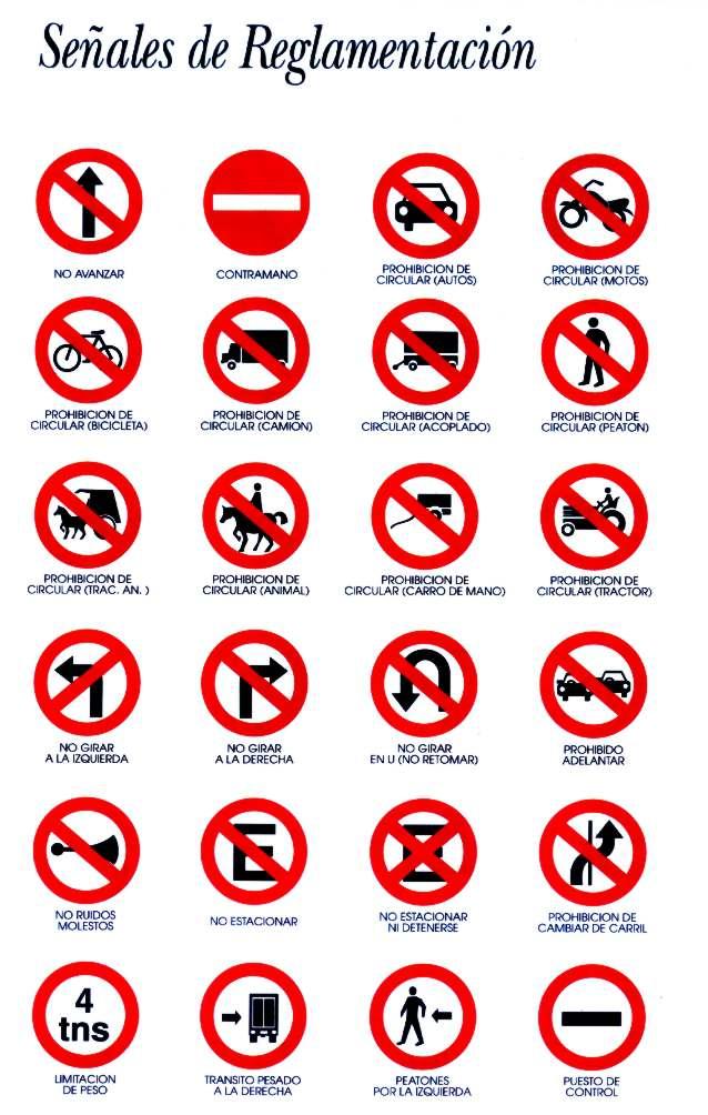 Las Señales De Transito Señales Viales Iconos Indicaciones