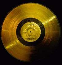 Disco de oro enviado con la voyager