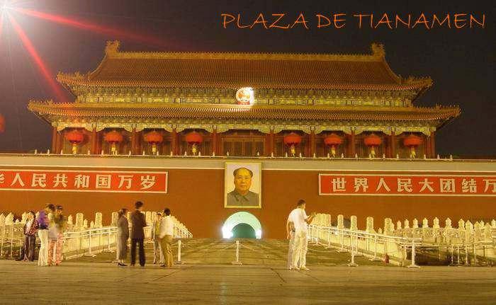 Represion o Masacre en la Plaza de Tiananmen en China Protesta