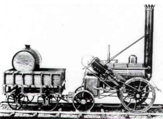 Resultado de imagen para historiaybiografias.com locomotora a vapor