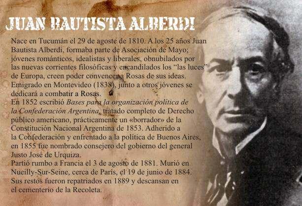 Alberdi Juan Bautista Auto del Pensamiento Politico Bases y Puntos
