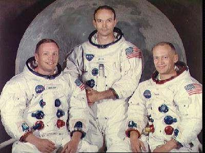 Neil Armstrong, Edwin Aldrin y Michael Collin