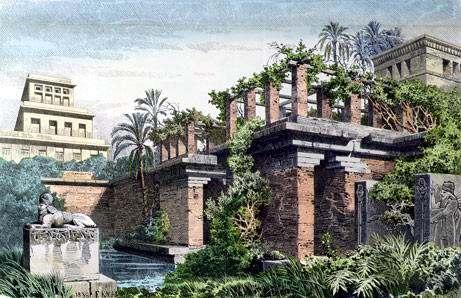 Jardines Colgantes de Babilonia - Siete Maravillas del Mundo Antiguo