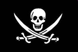 bandera negra con calavera, Pirata Barbanegra