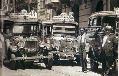 primeros colectivos en argentina