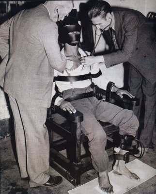 condenado a muerte, silla eléctrica