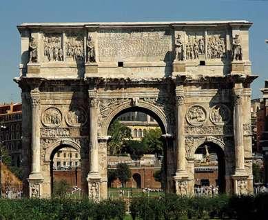 El arco de Constantino (Roma, 312-315)