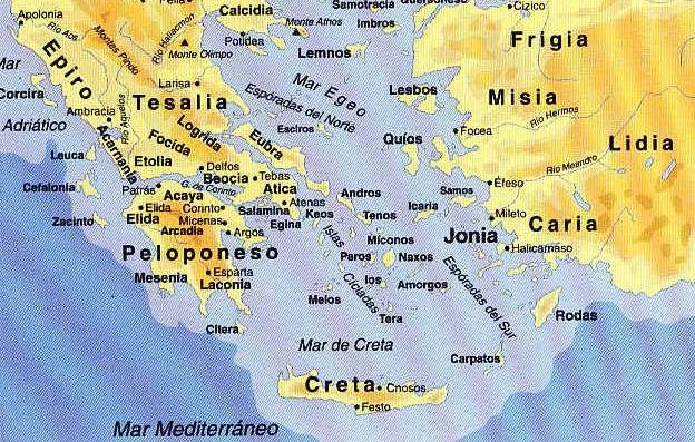 mapa de la isla de creta