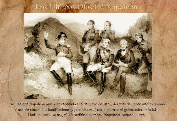 ultimos días de Napoleón