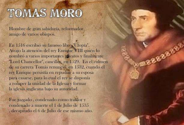 Vida y Obra de Santo Tomas Moro Biografia e Historia de la Reforma