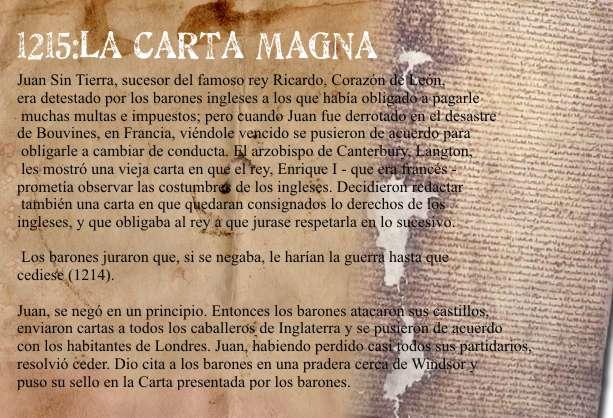 la carta magna en 1215