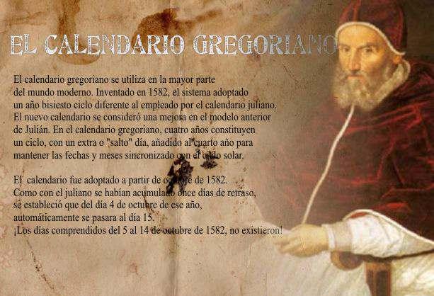 Papa Gregorio XIII Reforma Gregoriana Nuevo Calendario