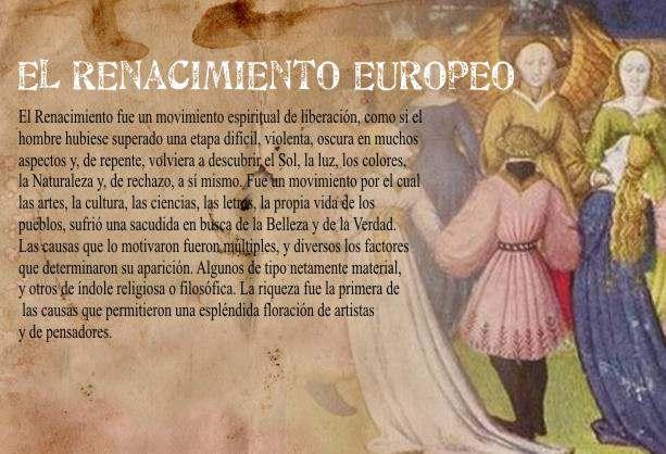 Característica del Renacimiento Europeo y El Hombre Renacentista