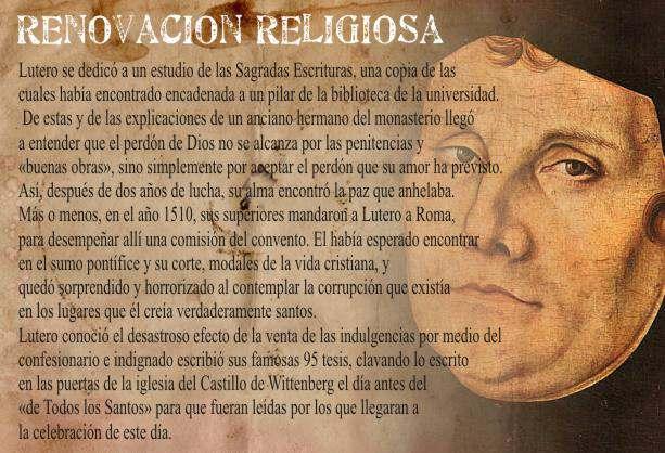 Causas de la Reforma de Lutero Reformadores Religiosos ...