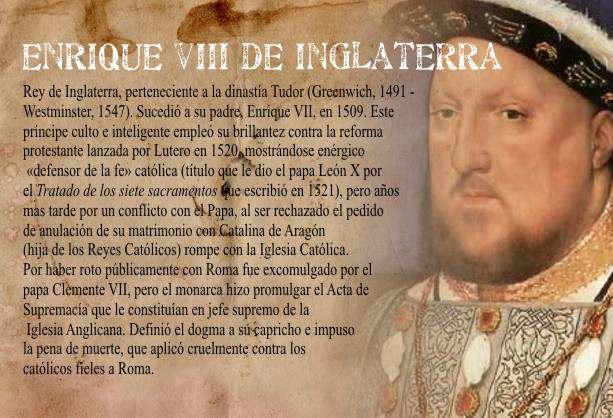 Resultado de imagen para historiaybiografias.com enrique viii