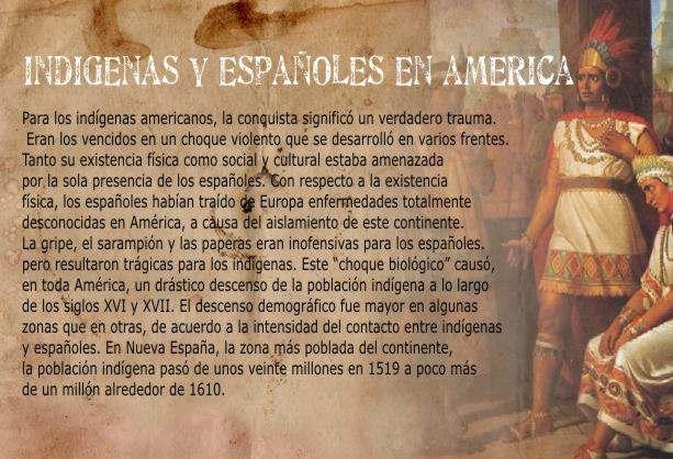 Dominación Española Sobre Los Indios. aborigenes