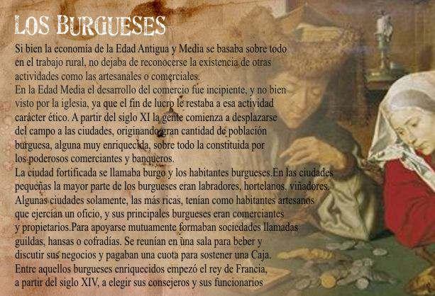 Los Burgueses Origen de la burguesia