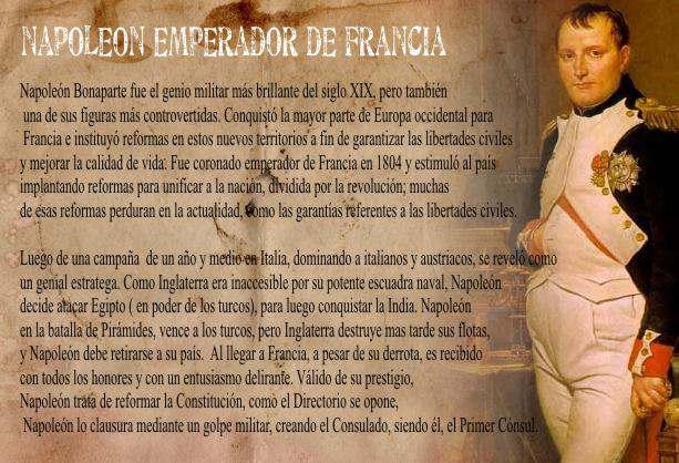 Biografia de Napoleón Bonaparte Conquista de Europa – BIOGRAFÍAS e ...