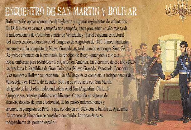 Entrevista de Guayaquil entre San Martín y Bolivar