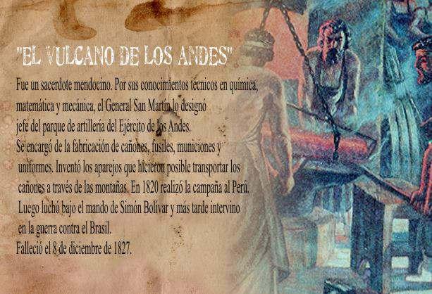 Fray Luis Beltran, Vulcano de los Andes