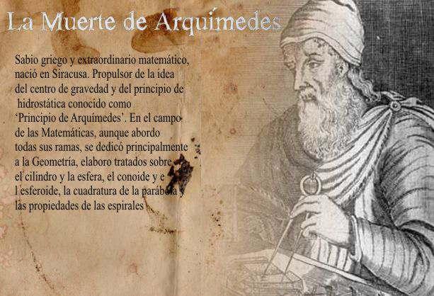 muerte de arquimedes