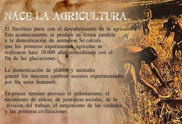 nace la agricultura
