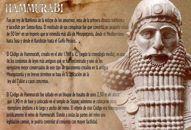 Leyes de Hammurabi en Babilonia
