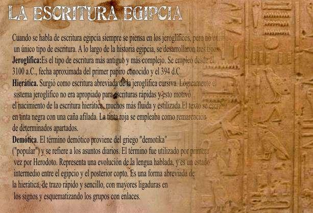 escritura egipcia: demotica