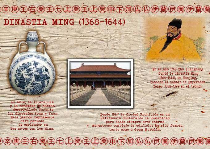 DISNASTIA CHINA MING