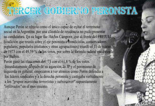 Tercer Gobierno Peronista Muerte de Peron – BIOGRAFÍAS e HISTORIA ...