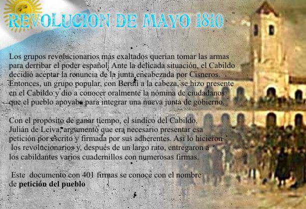 la revolucion de mayo de 1810