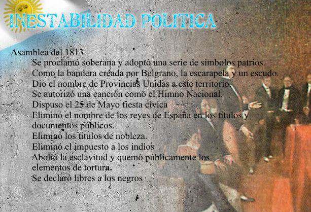 Inestabilidad Politica Argentina Guerras de la Independencia