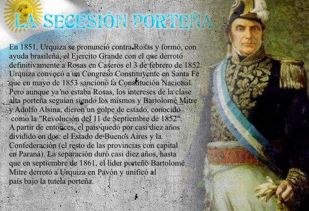 justo jose de urquiza presidente de la confederacion argentina