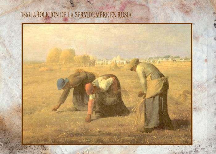 Abolicion de la Servidumbre en rusia zarista