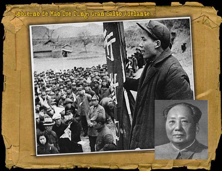 Hambruna en China Gran Salto Adelante de Mao Tse Tung